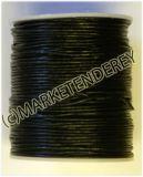 Lederband, 1.5 mm  Ø, 100 Meter, schwarz ☆